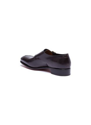 - SANTONI - 'Carter' double monk strap leather loafers