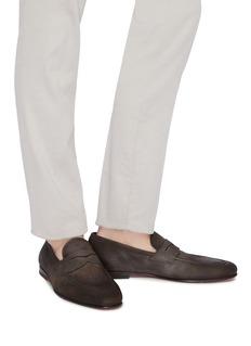 Santoni Leather penny loafers