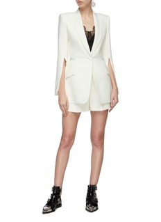 Alexander McQueen Sarabande lace back panel split sleeve blazer