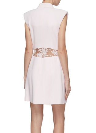 Back View - Click To Enlarge - Alexander McQueen - Sarabande lace back panel double breasted gilet dress