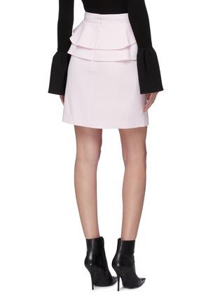 Back View - Click To Enlarge - Alexander McQueen - Tiered ruffle waist skirt