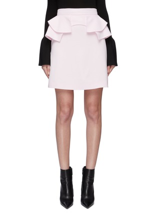 Main View - Click To Enlarge - ALEXANDER MCQUEEN - Tiered ruffle waist skirt