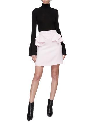 Figure View - Click To Enlarge - ALEXANDER MCQUEEN - Tiered ruffle waist skirt