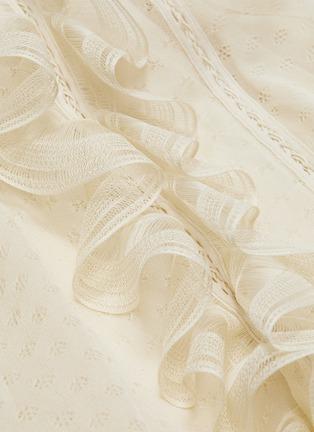 - ALEXANDER MCQUEEN - Asymmetric tiered ruffle knit sleeveless dress
