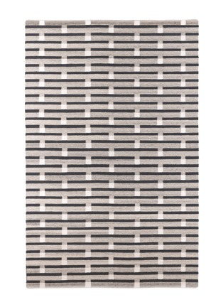 Main View - Click To Enlarge - CASE - Purlin large rug – Warm Grey