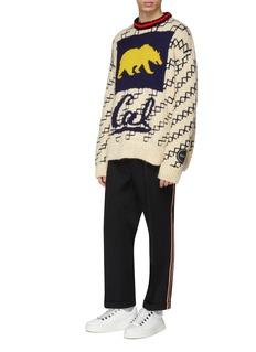 Calvin Klein 205W39NYC x UC Berkeley bear logo intarsia sweater