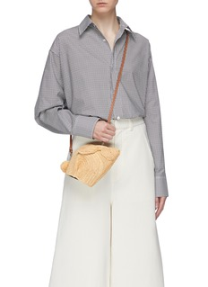 LOEWE 'Bunny' mini raffia crossbody bag