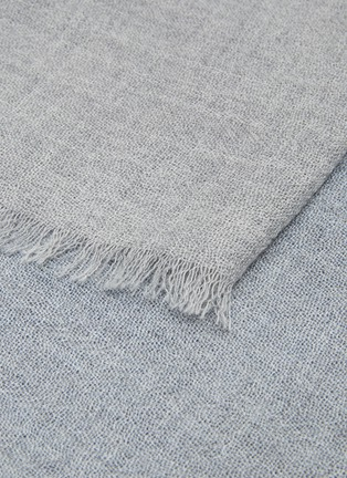 Detail View - Click To Enlarge - OYUNA - Vista cashmere throw –Soft Grey/Blue