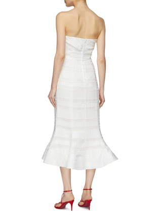 Back View - Click To Enlarge - C/MEO COLLECTIVE - 'Solitude' flared textured stripe strapless dress