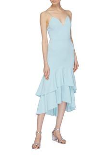 alice + olivia 'Amina' tiered flared hem sweetheart dress