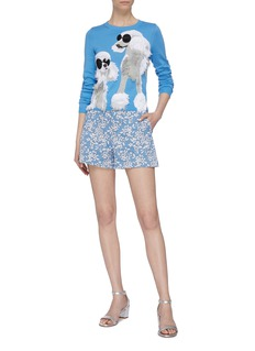 alice + olivia 'Connie' strass poodle intarsia sweater
