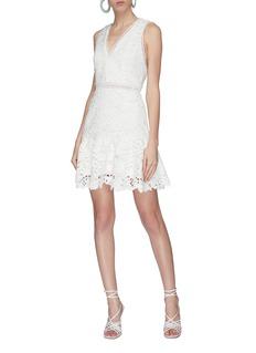 alice + olivia 'Marleen' lace sleeveless V-neck dress