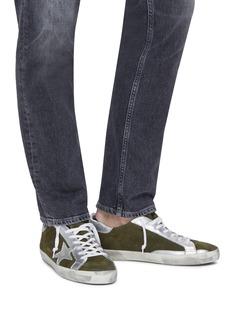 Golden Goose 'Superstar' metallic leather panel suede sneakers