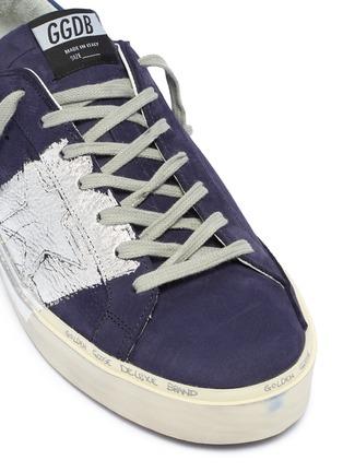 Detail View - Click To Enlarge - Golden Goose Deluxe Brand - 'Hi Star' metallic colourblock leather flatform sneakers