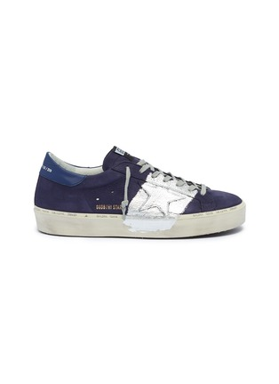 Main View - Click To Enlarge - Golden Goose Deluxe Brand - 'Hi Star' metallic colourblock leather flatform sneakers