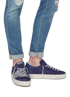 Golden Goose 'Hi Star' metallic colourblock leather flatform sneakers