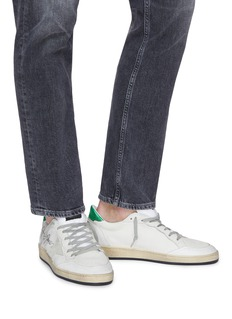 Golden Goose 'Ball Star' slogan print counter panelled sneakers