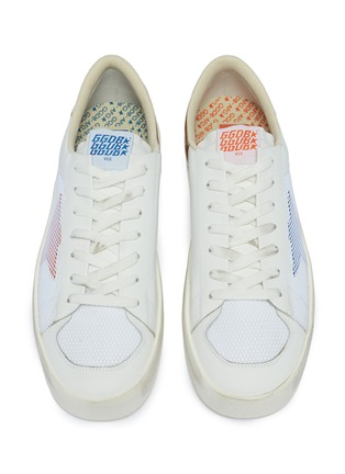 Detail View - Click To Enlarge - Golden Goose - 'Stardan' mesh panel leather sneakers
