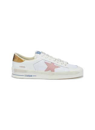 Main View - Click To Enlarge - Golden Goose - 'Stardan' mesh panel leather sneakers