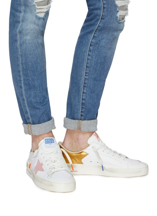 Figure View - Click To Enlarge - Golden Goose - 'Stardan' mesh panel leather sneakers