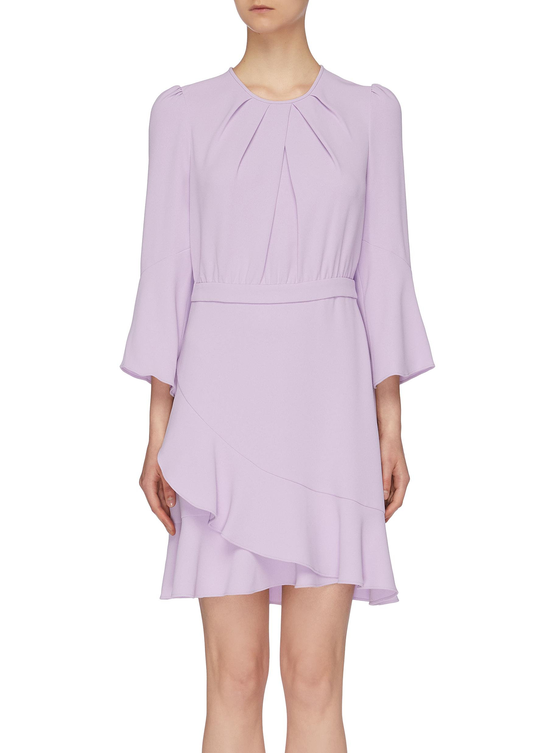 d04c77e2f9bd1 DIANE VON FURSTENBERG | 'Rosina' flared sleeve mock wrap dress ...