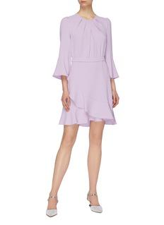 Diane von Furstenberg 'Rosina' flared sleeve mock wrap dress