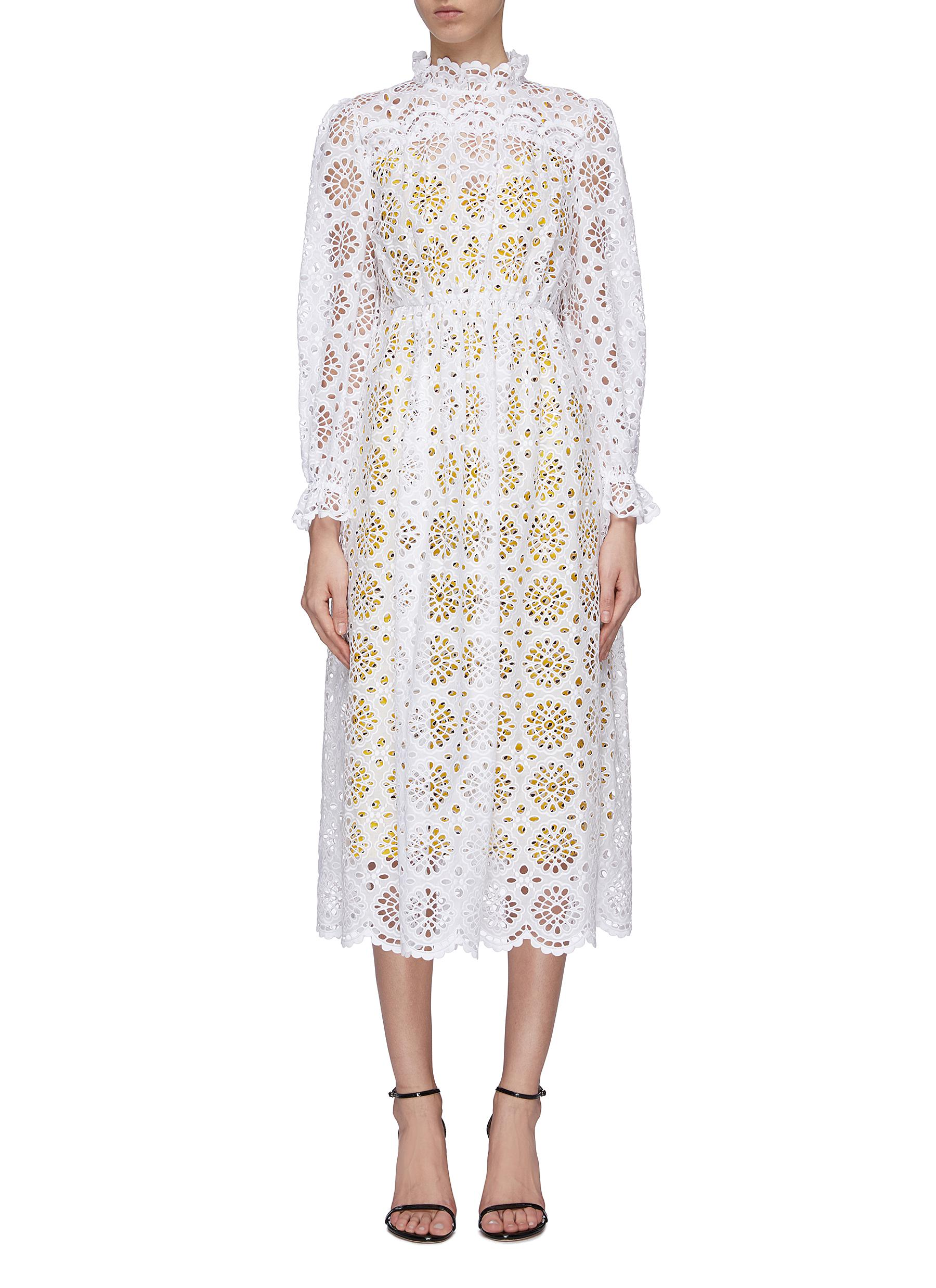 Leandra scalloped broderie anglaise dress by Diane Von Furstenberg