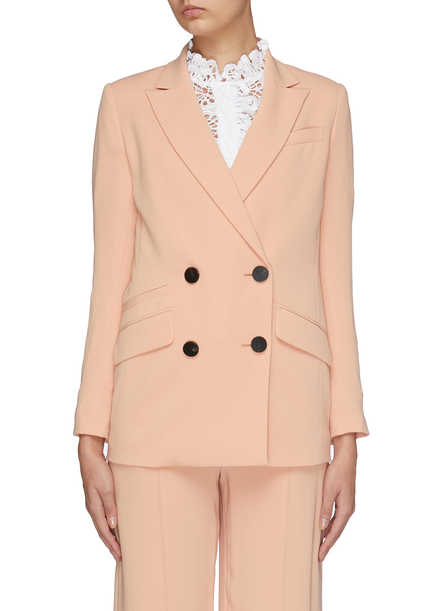 Madison peaked lapel double breasted blazer by Diane Von Furstenberg