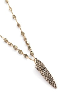 John Hardy 'Legends Naga' pyrite bead silver pendant necklace