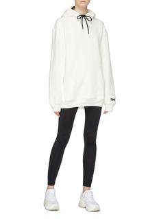Victoria Beckham x Reebok logo embroidered oversized hoodie