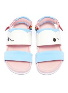 WiNK 'Birkies' rainbow strap patchwork kids slingback sandals