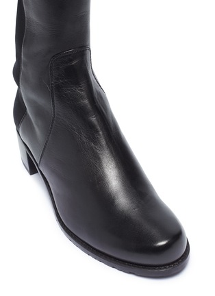 Detail View - Click To Enlarge - STUART WEITZMAN - 'Reserve' stretch leather knee high boots