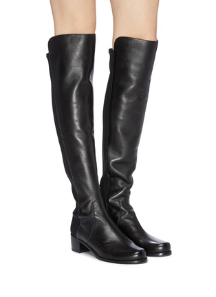 Figure View - Click To Enlarge - STUART WEITZMAN - 'Reserve' stretch leather knee high boots