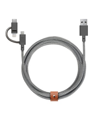 Main View - Click To Enlarge - NATIVE UNION - BELT 3-in-1 charging cable –Zebra