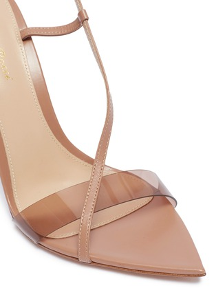 Detail View - Click To Enlarge - GIANVITO ROSSI - Slant PVC band leather sandals