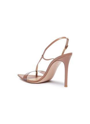 - GIANVITO ROSSI - Slant PVC band leather sandals