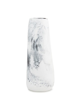 Main View - Click To Enlarge - DINOSAUR DESIGNS - Pebble tall vase – Black & Snow Swirl