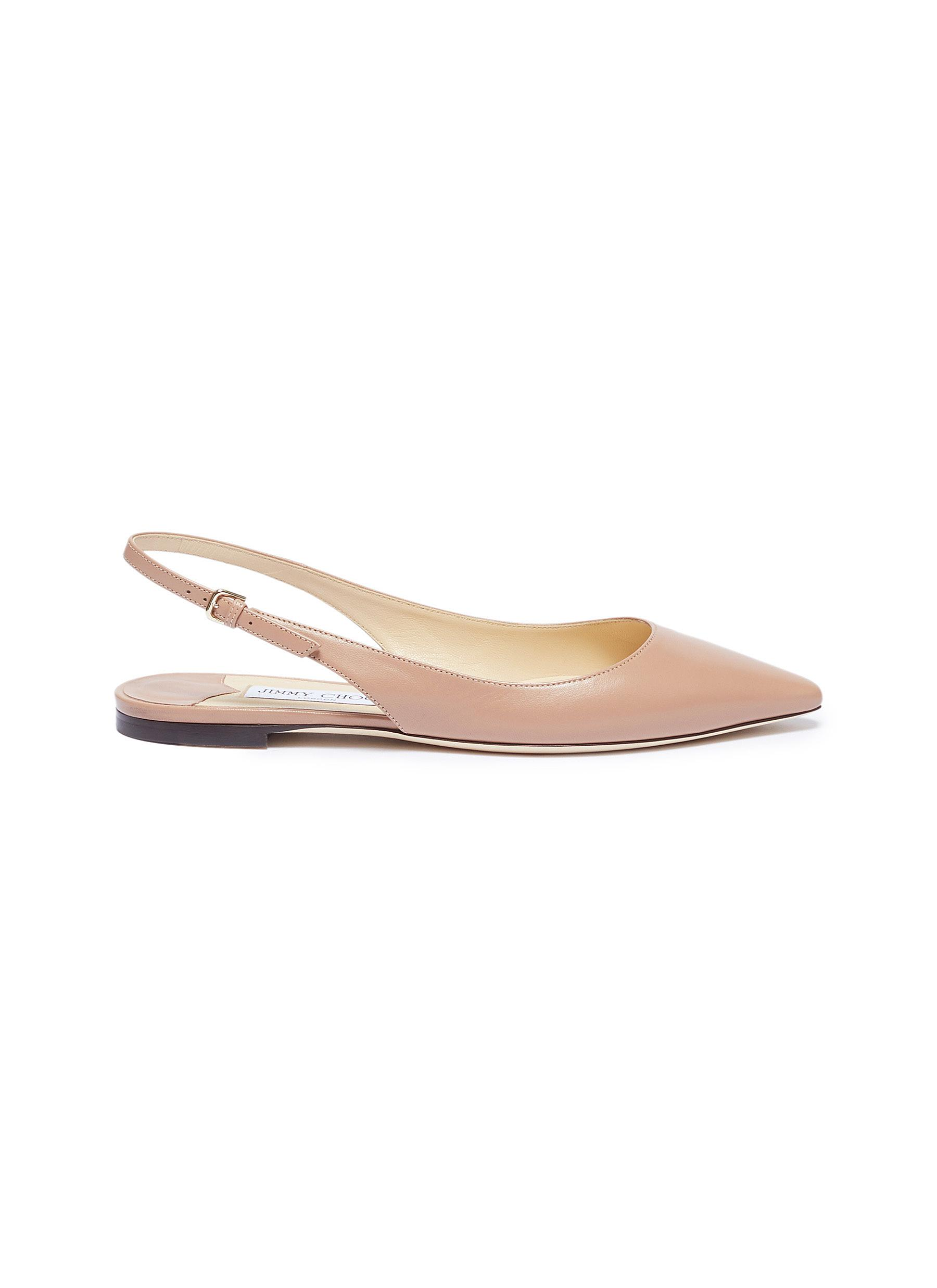 Erin leather slingback skimmer flats by Jimmy Choo