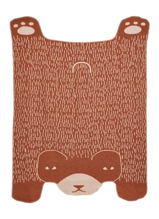 Main View - Click To Enlarge - DONNA WILSON - Bear throw – Brown