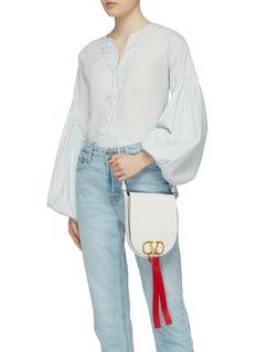 Valentino 'VRing' tassel medium leather saddle bag