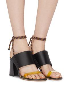 Dries Van Noten PVC satin band rope slingback sandals