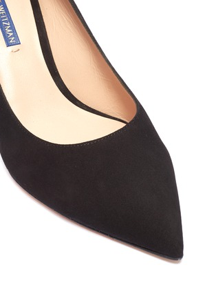 Detail View - Click To Enlarge - Stuart Weitzman - 'Leigh' suede pumps