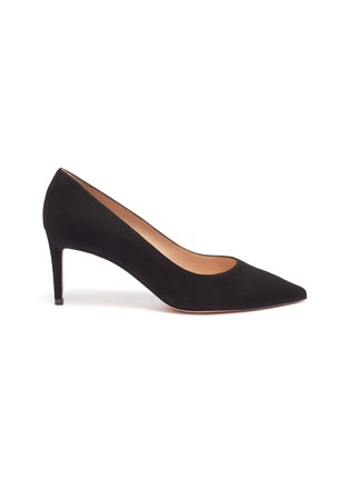 Main View - Click To Enlarge - Stuart Weitzman - 'Leigh' suede pumps