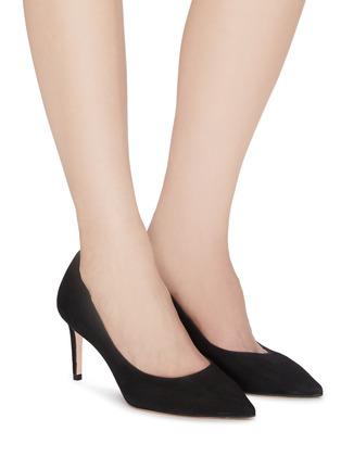 Figure View - Click To Enlarge - Stuart Weitzman - 'Leigh' suede pumps