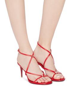 Valentino Rockstud cross strap leather sandals