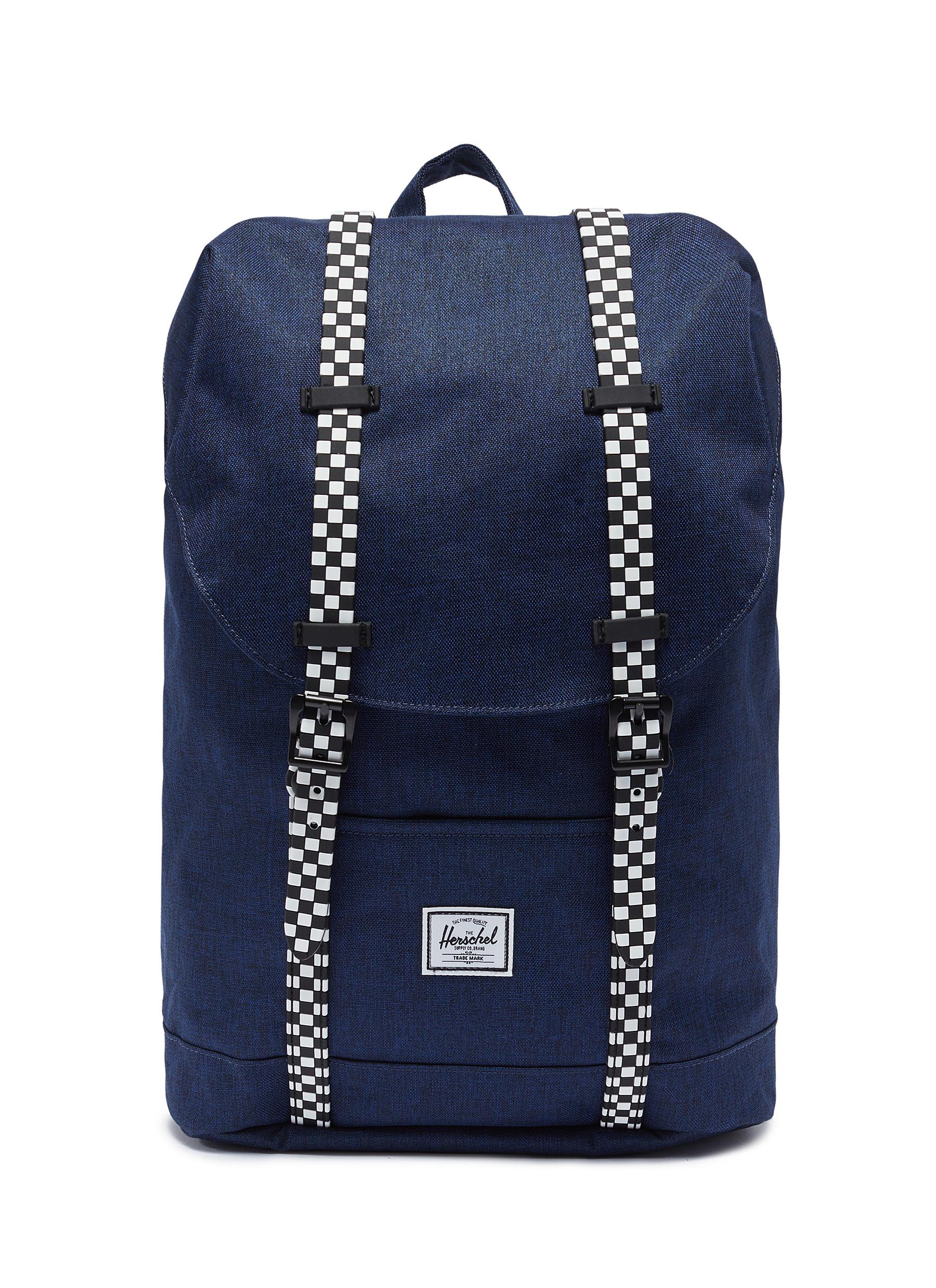 The Herschel Supply Co. Brand.  Retreat  checkerboard strap canvas 14L youth  backpack ceda6ccc5d253
