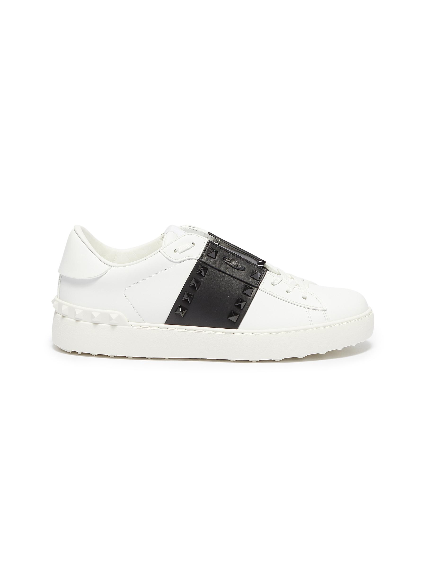 Rockstud Untitled 11 colourblock leather sneakers by Valentino