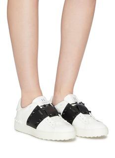 Valentino 'Rockstud Untitled 11' colourblock leather sneakers