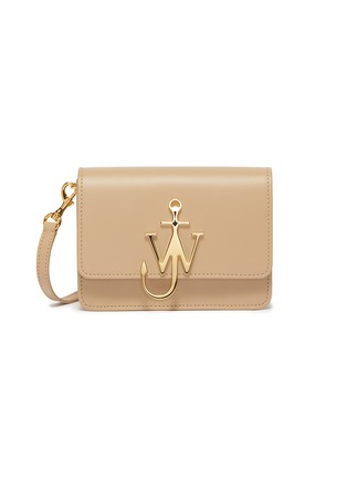 Main View - Click To Enlarge - JW ANDERSON - 'Logo' plate mini leather crossbody bag