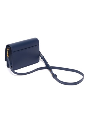 Detail View - Click To Enlarge - JW ANDERSON - 'Logo' plate mini leather crossbody bag